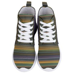 Multicolored Linear Abstract Print Women s Lightweight High Top Sneakers by dflcprintsclothing
