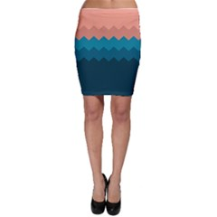 Flat Ocean Waves Palette Bodycon Skirt by goljakoff