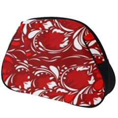 Red Ethnic Flowers Full Print Accessory Pouch (big)