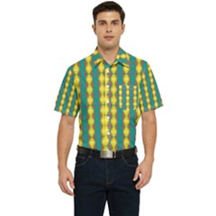 Native American Pattern Men s Short Sleeve Pocket Shirt