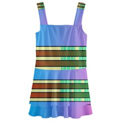 Vaporwave Hack The Planet 4 Kids  Layered Skirt Swimsuit
