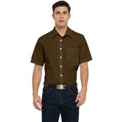 Brunette Brown Men s Short Sleeve Pocket Shirt