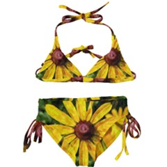 Sunflower Painting Kids  Classic Bikini Set