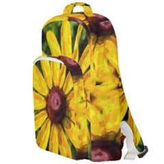 Sunflower Painting Double Compartment Backpack