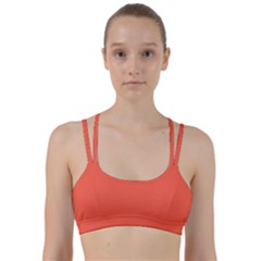 Color Tomato Line Them Up Sports Bra