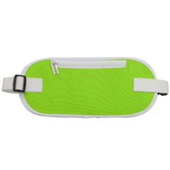 Color Green Yellow Rounded Waist Pouch
