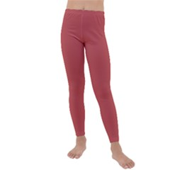 Color Indian Red Kids  Lightweight Velour Leggings