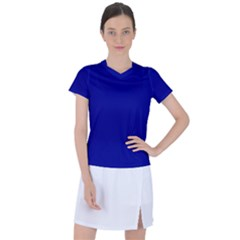 Color Dark Blue Women s Sports Top