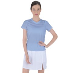 Color Light Steel Blue Women s Sports Top