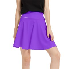 Color Blue Violet Waistband Skirt