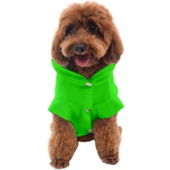 Color Neon Green Dog Coat
