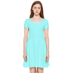 Color Ice Blue Inside Out Cap Sleeve Dress