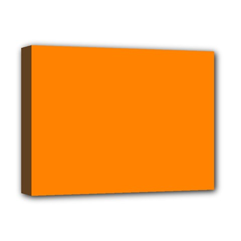 Color Ut Orange Deluxe Canvas 16  X 12  (stretched)