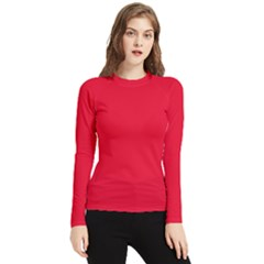 Color Spanish Red Women s Long Sleeve Rash Guard