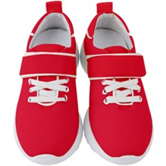 Color Spanish Red Kids  Velcro Strap Shoes