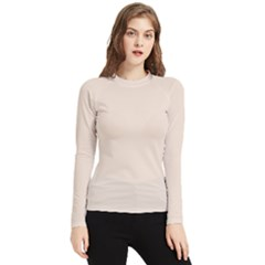 Color Champagne Pink Women s Long Sleeve Rash Guard