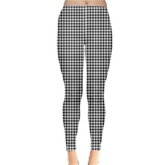 White Dots On Black Leggings  by JustToWear