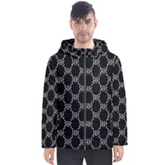 Rivera Royale Bevel On Black Men s Hooded Puffer Jacket