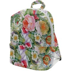 Garden Flowers Zip Up Backpack by goljakoff