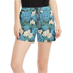 Blue Flowers Runner Shorts