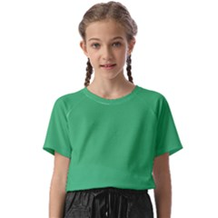 Color Medium Sea Green Kids  Basic Tee