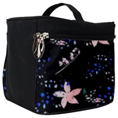 Sparkle Floral Make Up Travel Bag (big) by Sparkle