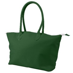 Basil Green Canvas Shoulder Bag