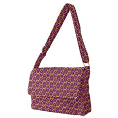 Geometric Groovy Pattern Full Print Messenger Bag (m)
