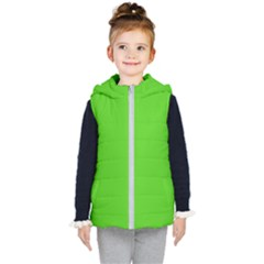Bright Green Kids  Hooded Puffer Vest