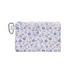 Watercolor Dandelions Canvas Cosmetic Bag (small)