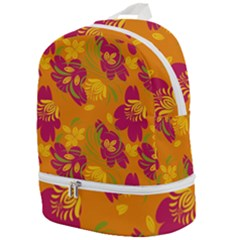 Folk Floral Pattern  Abstract Flowers Print  Seamless Pattern Zip Bottom Backpack by Eskimos