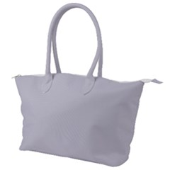 Cloudy Grey Canvas Shoulder Bag