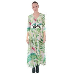 Palm Trees By Traci K Button Up Maxi Dress