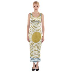 Sunshine Painting Fitted Maxi Dress by goljakoff