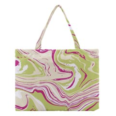 Green Vivid Marble Pattern 6 Medium Tote Bag by goljakoff