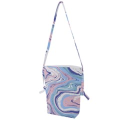 Vector Vivid Marble Pattern 11 Folding Shoulder Bag by goljakoff