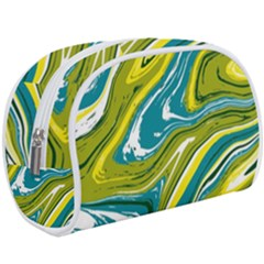 Green Vivid Marble Pattern Make Up Case (large)