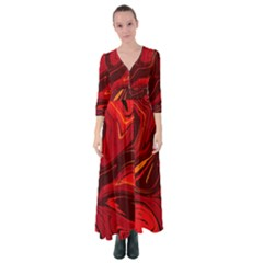 Red Vivid Marble Pattern 15 Button Up Maxi Dress by goljakoff