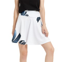 Blue Banana Leaves Waistband Skirt