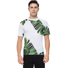 Green Banana Leaves Men s Short Sleeve Rash Guard by goljakoff