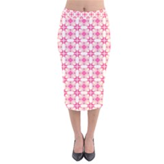 Pinkshabby Velvet Midi Pencil Skirt