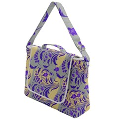 Folk Floral Pattern  Abstract Flowers Surface Design  Seamless Pattern Box Up Messenger Bag