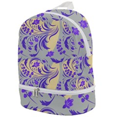 Folk Floral Pattern  Abstract Flowers Surface Design  Seamless Pattern Zip Bottom Backpack by Eskimos