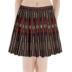 Mechanics Pleated Mini Skirt