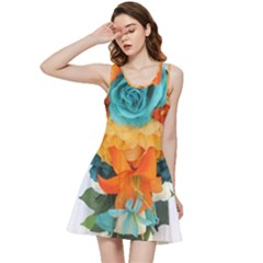 Spring Flowers Inside Out Racerback Dress