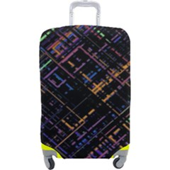 Criss-cross Pattern (multi-colored) Luggage Cover (large)