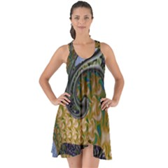Ancient Seas Show Some Back Chiffon Dress