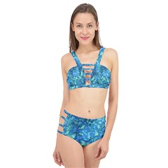 Deep Blues Cage Up Bikini Set