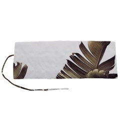 Vintage Banana Leaves Roll Up Canvas Pencil Holder (s) by goljakoff