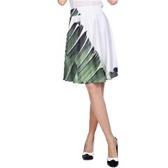Banana Leaves A-line Skirt by goljakoff